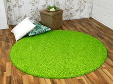 Hochflor Shaggy Teppich Prestige Lindgrün Rund in 7 Größen online kaufen