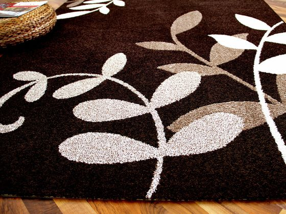 Designer Teppich Softstar Braun Blumen online kaufen