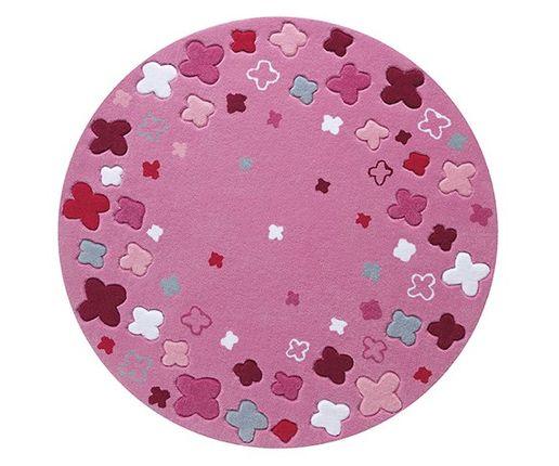 ESPRIT Kinderteppich Bloom Field Pink Rund  online kaufen