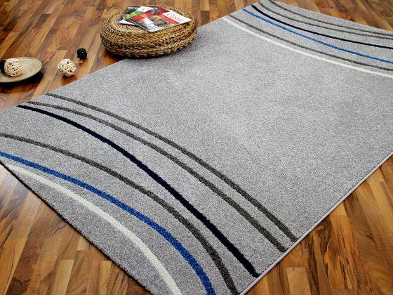 Designer Teppich Softstar Grau Blau Retro  online kaufen