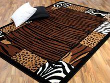 Teppich Trendline Afrika Bordüre Braun Schwarz in 4 Größen online kaufen