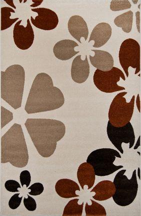 Designer Teppich Cuba Beige Blumen  online kaufen