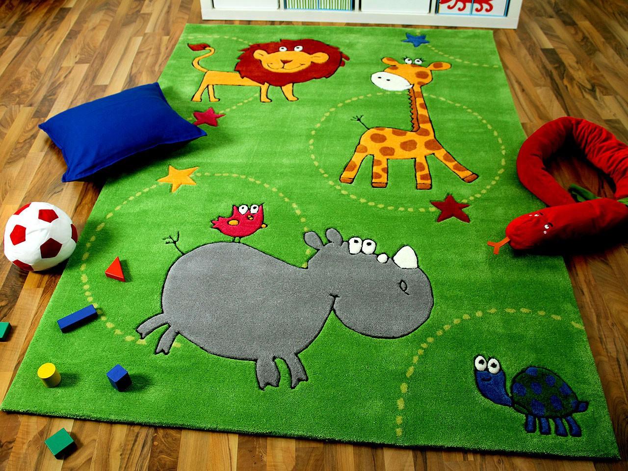 lifestyle kinderteppich grün zoo !!! sofort lieferbar !!! teppiche ... - Teppich Kinderzimmer Grun