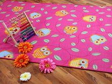 Kinder Spielteppich Eule Pink in 24 Größen online kaufen