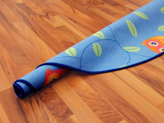 Kinder Spielteppich Eule Blau Rund in 7 Größen online kaufen