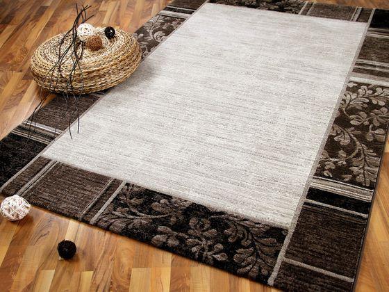 Venezia Luxus Designer Teppich Bordüre Beige online kaufen