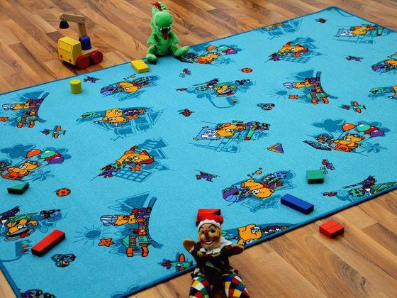 Kinder Spielteppich Bärenwelt Türkis in 24 Größen online kaufen
