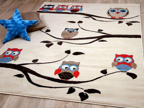 Kinderteppich Trendline Eulen Creme in 4 Größen online kaufen