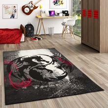 Teppich Trendline Drachen Schwarz Rot in 4 Größen online kaufen