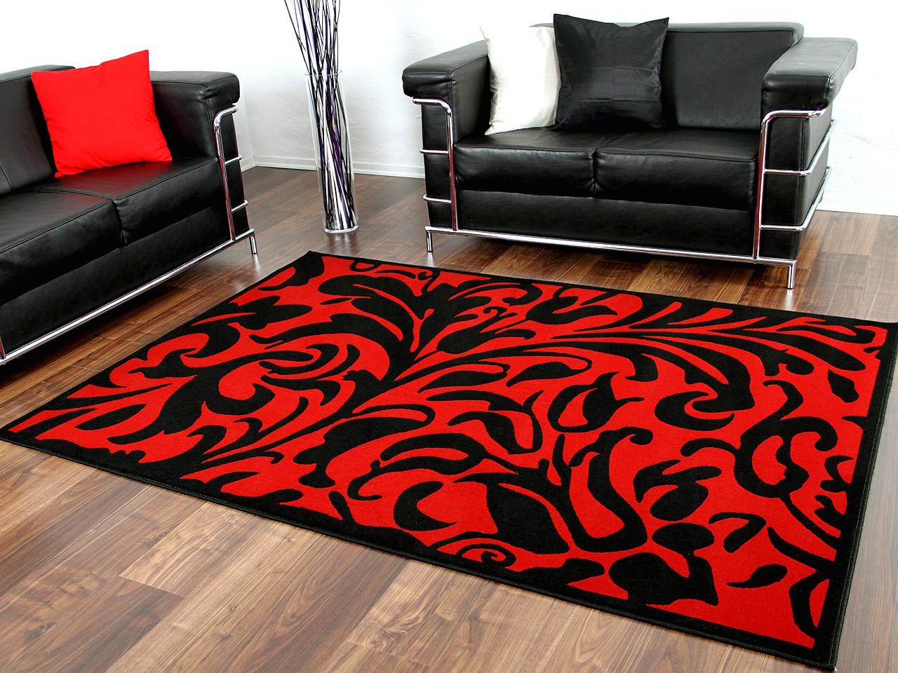designer teppich passion schwarz rot barock teppiche designerteppiche passion teppiche. Black Bedroom Furniture Sets. Home Design Ideas