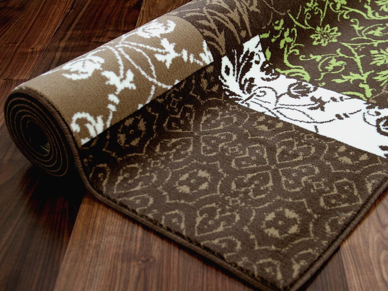 designer teppich passion braun gr n patchwork ebay. Black Bedroom Furniture Sets. Home Design Ideas