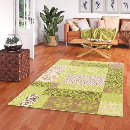 Designer Teppich Passion Grün Patchwork online kaufen