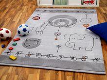 Lifestyle Kinderteppich Babywelt Grau online kaufen