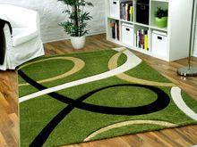 Designer Teppich Maui Grün Loops  online kaufen