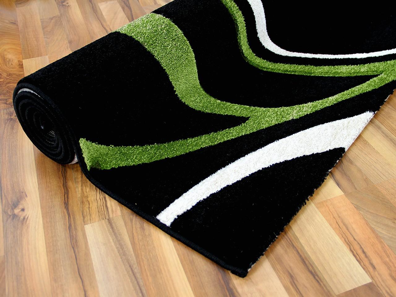 designer teppich maui schwarz gr n style teppiche designerteppiche maui teppiche. Black Bedroom Furniture Sets. Home Design Ideas