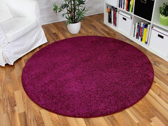 Hochflor Velours Teppich Triumph Lila Rund in 7 Größen online kaufen