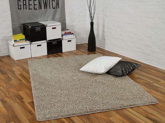 Teppich Hochflor Shaggy Premio Taupe in 24 Größen online kaufen
