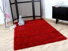 Hochflor Langflor Shaggy Teppich Glamour Rot online kaufen