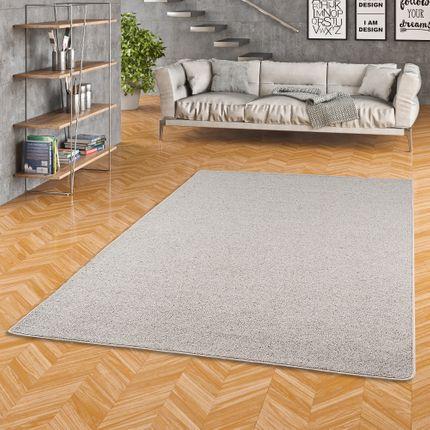 Natur Teppich Wolle Berber Grau Meliert