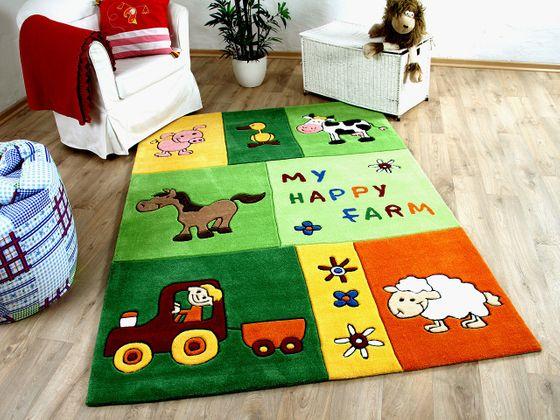 Lifestyle Kinderteppich My Happy Farm Grün  online kaufen