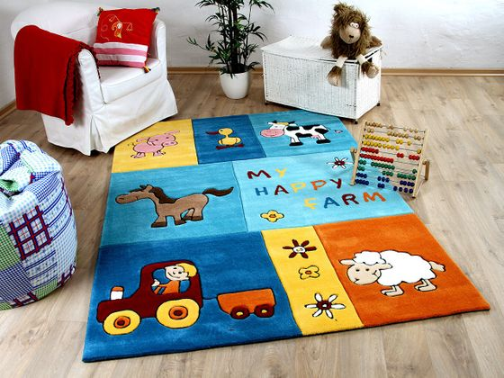 Lifestyle Kinderteppich My Happy Farm Blau  online kaufen