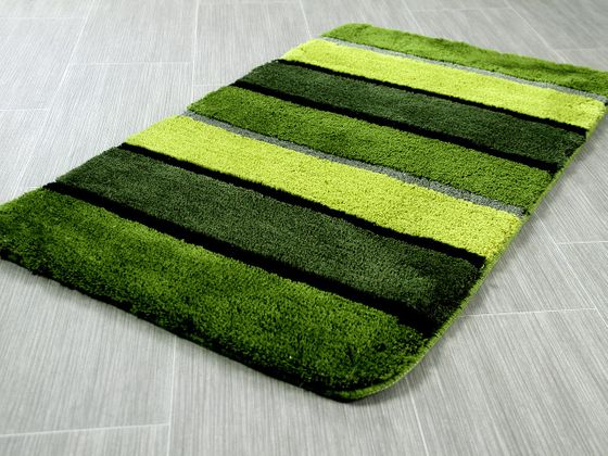 Pacific Badteppich Bali Grün Streifen in 6 Größen online kaufen