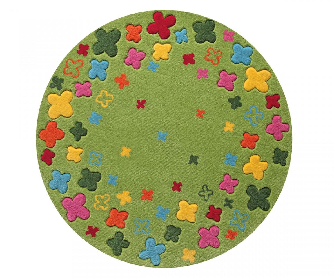 Kinderteppich grün rund  ESPRIT Kinderteppich Bloom Field Grün Rund Teppiche Markenteppiche ...