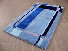 Pacific Badteppich Bonaire Blau Bordüre in 5 Größen online kaufen
