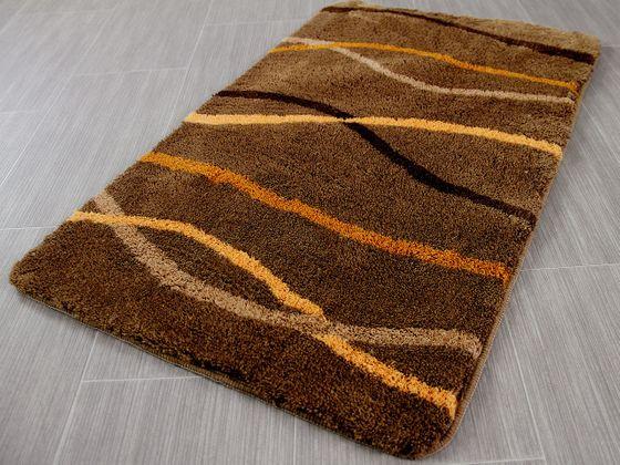 Pacific Badteppich Nevis Braun Streifen in 5 Größen online kaufen