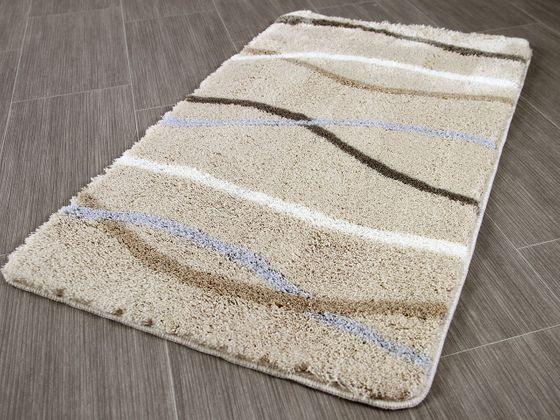 Pacific Badteppich Nevis Sandbeige Streifen in 5 Größen