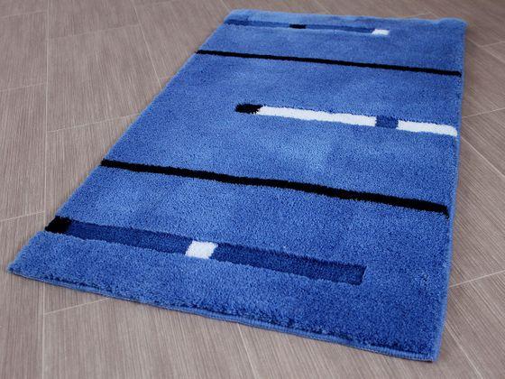 Pacific Badteppich Kabara Blau Streifen in 5 Größen online kaufen