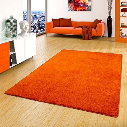 Hochflor Shaggy Teppich Palace Orange in 24 Größen online kaufen