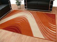 Teppich Modern Trendline Orange Creme Retro online kaufen