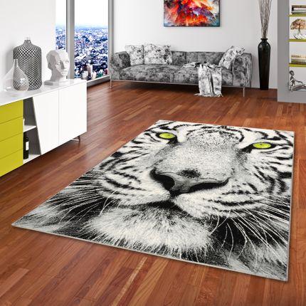 Designer Teppich Carat White Tiger