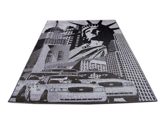 Designer Flachgewebe Life New York Grau online kaufen