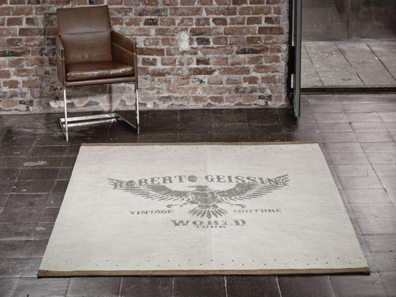 Designer Lederteppich Roberto Geissini Eagle Beige online kaufen