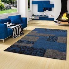 Teppich Trendline Patchwork Schwarz Blau in 4 Größen online kaufen