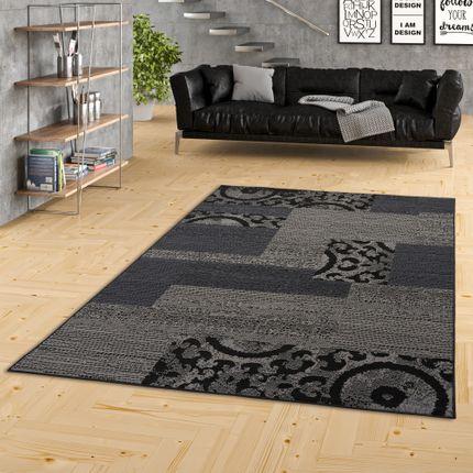 Teppich Trendline Patchwork Schwarz Grau in 4 Größen online kaufen