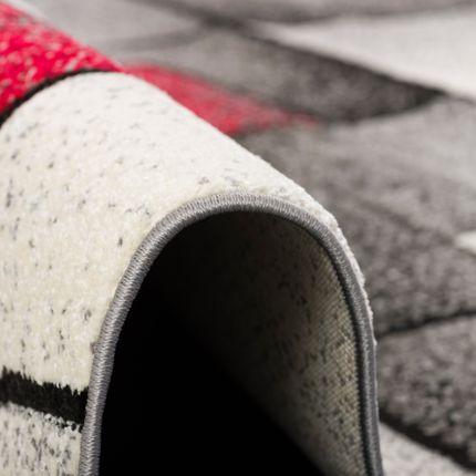 Designer Teppich Brilliant Rot Grau Fantasy online kaufen