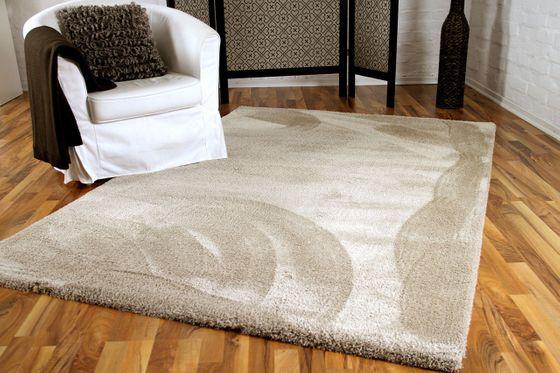 Luxus Shaggy Hochflorteppich Silky Soft Beige online kaufen