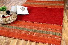 Natur Teppich Kelim Navarro Rot Orange online kaufen