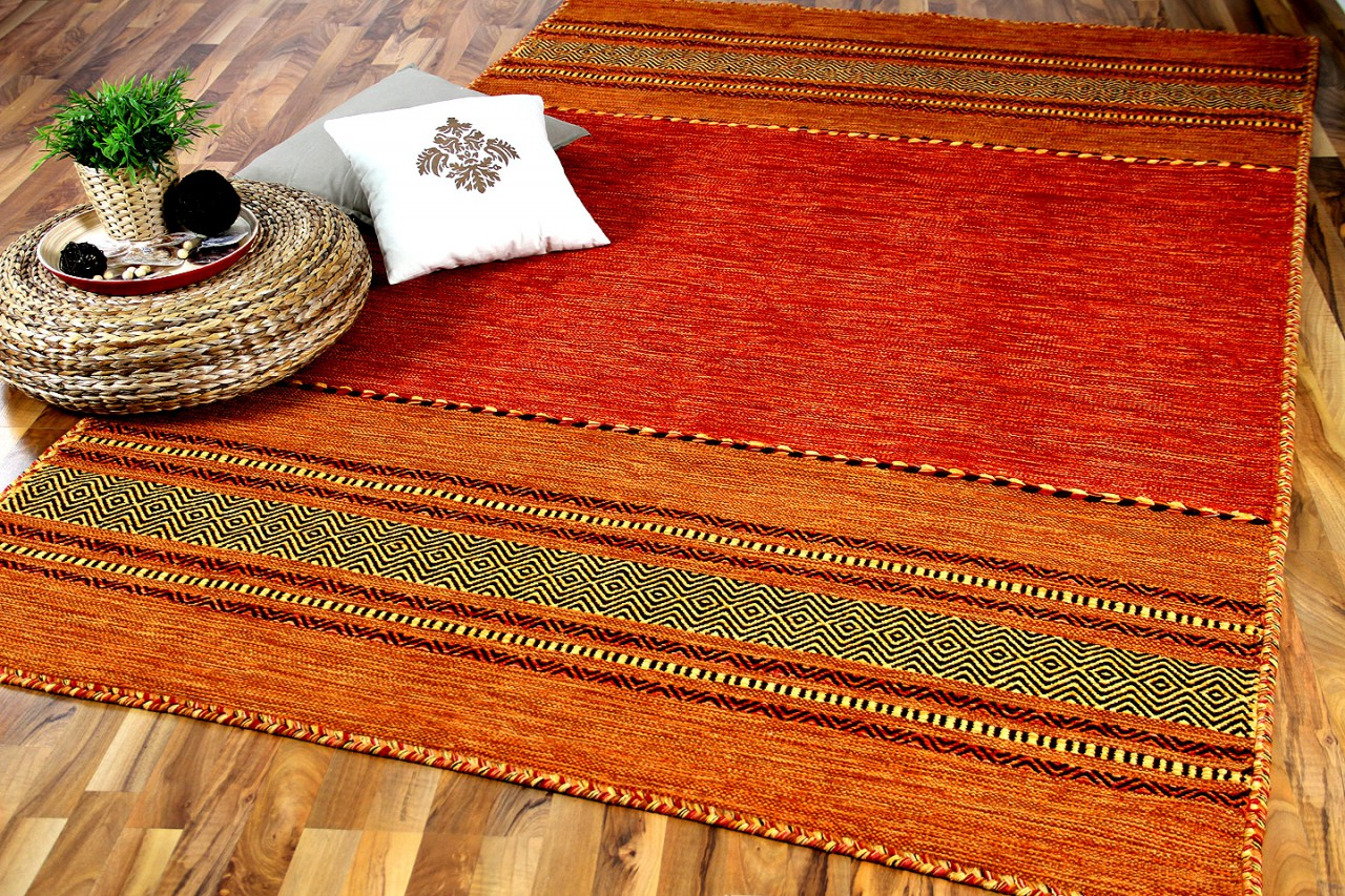 natur teppich kelim navarro terrakotta teppiche nepal gabbeh und kelim teppiche kelim teppiche. Black Bedroom Furniture Sets. Home Design Ideas