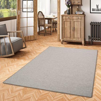 Feinschlingen Velour Teppich Strong Taupe online kaufen