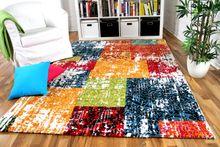Designer Gabbeh Teppich Vintage Patchwork Bunt online kaufen