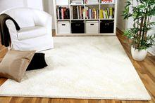 Hochflor Velours Teppich Mona Creme in 24 Größen online kaufen