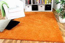 Hochflor Velours Teppich Mona Orange online kaufen