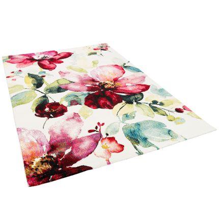 Designer Teppich Brilliant Rosa Blumen online kaufen
