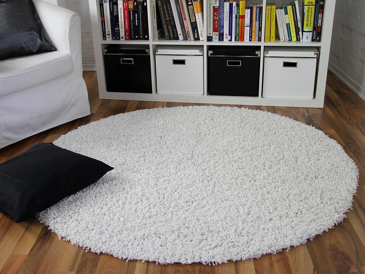 Fell Teppich Grau : hochflor langflor shaggy teppich aloha weiss rund teppiche ~ Watch28wear.com Haus und Dekorationen