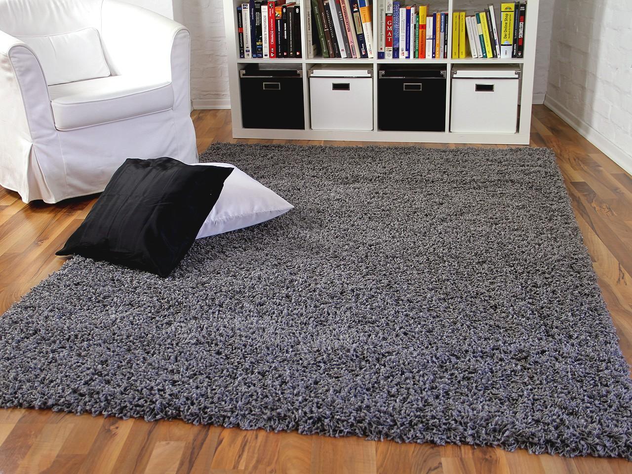 hochflor langflor shaggy teppich aloha anthrazit teppiche. Black Bedroom Furniture Sets. Home Design Ideas