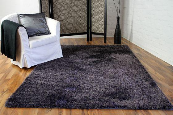 Hochflor Langflor Shaggy Teppich Elegance Blau Lila online kaufen